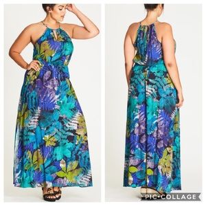 City Chic NWT Rainforest Maxi Dress